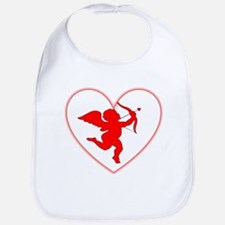 Cupis's Arrow Valentine Bib