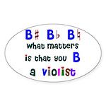 B a Violist Oval Sticker