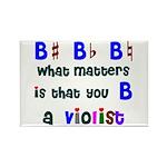 B a Violist Rectangle Magnet (10 pack)