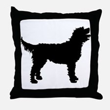 Labradoodle Throw Pillow
