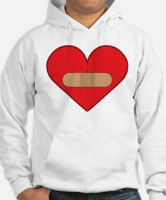 Broken heart with Band-aid Hoodie