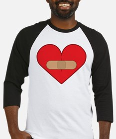 Broken heart with Band-aid Baseball Jersey