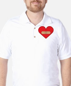 Broken heart with Band-aid T-Shirt