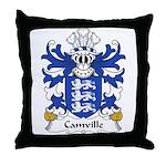 Camville Family Crest Throw Pillow