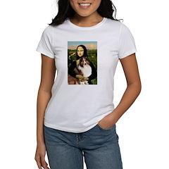 Mona Lisa / Sheltie (s&w) Women's T-Shirt