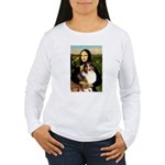 Mona Lisa / Sheltie (s&w) Women's Long Sleeve T-Sh