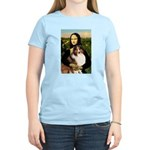 Mona Lisa / Sheltie (s&w) Women's Light T-Shirt