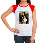 Mona Lisa / Sheltie (s&w) Women's Cap Sleeve T-Shi