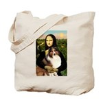 Mona Lisa / Sheltie (s&w) Tote Bag