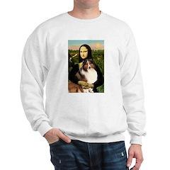 Mona Lisa / Sheltie (s&w) Sweatshirt
