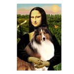 Mona Lisa / Sheltie (s&w) Postcards (Package of 8)