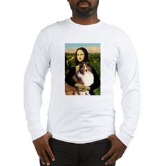 Mona Lisa / Sheltie (s&w) Long Sleeve T-Shirt