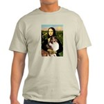 Mona Lisa / Sheltie (s&w) Light T-Shirt