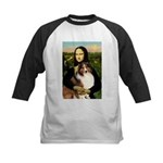 Mona Lisa / Sheltie (s&w) Kids Baseball Jersey