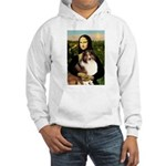 Mona Lisa / Sheltie (s&w) Hooded Sweatshirt