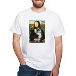 Mona Lisa / Corgi (bibl)Mona's Pembroke White T-Sh