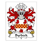 Byrbeck Family Crest Small Poster