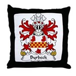 Byrbeck Family Crest Throw Pillow