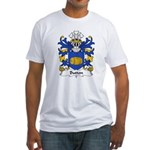 Button Family Crest Fitted T-Shirt