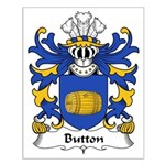 Button Family Crest Small Poster