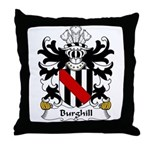 Burghill Family Crest Throw Pillow