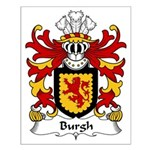 Burgh Family Crest Small Poster