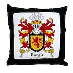 Burgh Family Crest Throw Pillow