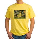 English Setter / Starry Night Yellow T-Shirt