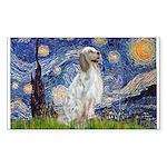 English Setter / Starry Night Sticker (Rectangle)