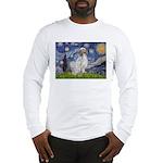 English Setter / Starry Night Long Sleeve T-Shirt