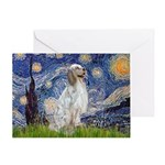 English Setter / Starry Night Greeting Card