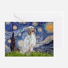 English Setter / Starry Night Greeting Card