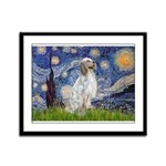 English Setter / Starry Night Framed Panel Print