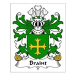 Braint Family Crest Small Poster