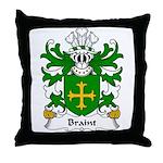 Braint Family Crest Throw Pillow