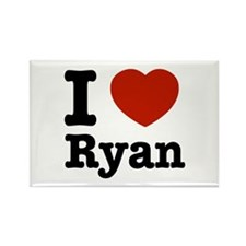 I love Ryan Rectangle Magnet