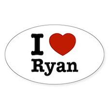 I love Ryan Oval Decal