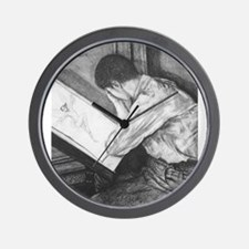 "Moonlight Fantasies ""Drawing Fairies"" Wall Clock"