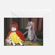 Moonlight Fantasies Red Greeting Cards (Pk of 10)