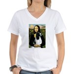 Mona Lisa/English Springer Women's V-Neck T-Shirt