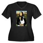 Mona Lisa/English Springer Women's Plus Size V-Nec