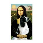 Mona Lisa/English Springer Sticker (Rectangle)