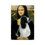 Mona Lisa/English Springer Rectangle Magnet