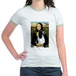 Mona Lisa/English Springer Jr. Ringer T-Shirt