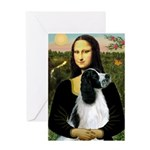 Mona Lisa/English Springer Greeting Card
