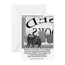Bartlett The Bookstore Cat Greeting Cards (Pk of 1