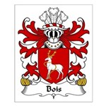 Bois Family Crest Small Poster