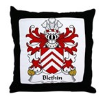Blethin Family Crest Throw Pillow