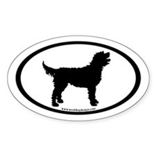 Labradoodle Oval (inner border) Oval Decal