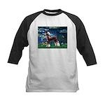 Lilies / Chinese Crested Kids Baseball Jersey
